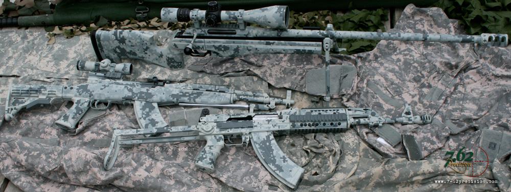 Digital Camouflage Finishes   7 62 Precision Custom Firearm