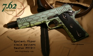 Taurus PT1911 Pistol with Eyelash Viper pattern