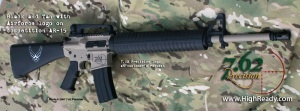 Competition AR Rifle Tan/Black with Air Force Logo
