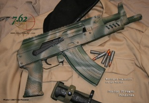 AK Pistol in Woodland Operator Snakeskin DuraCoat