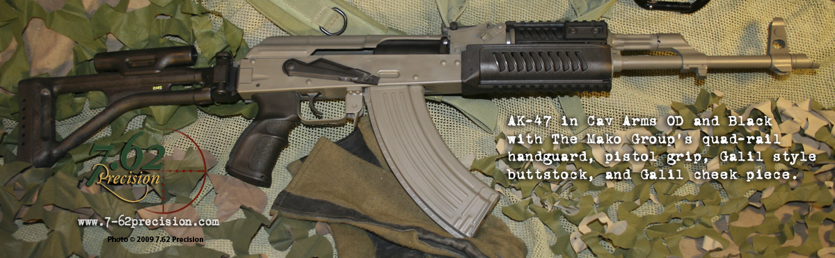 Od and mako galil folding stock furniture kit and ak 47 pistol grip