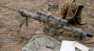 AR-10 Sniper with Optics and Accessories in Woodland Operator Snakeskin Finish