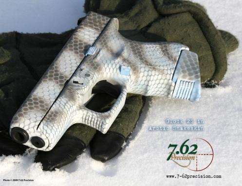 Glock 36 in Arctic operator Snakeskin DuraCoat