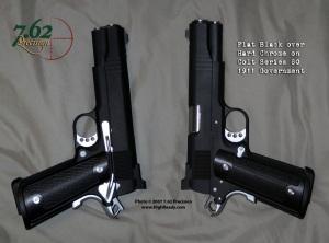 Chrome Colt 1911 with Black DuraCoat
