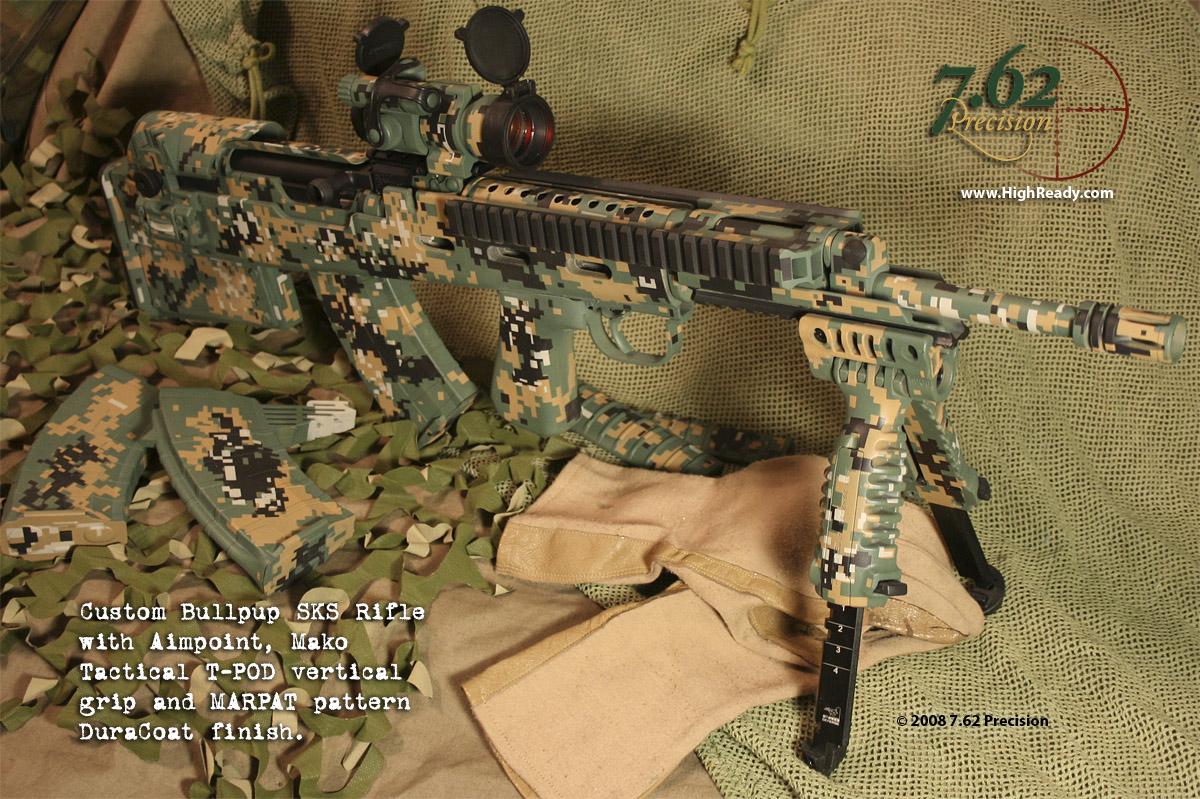 Digital Camouflage Finishes 7 62 Precision Custom