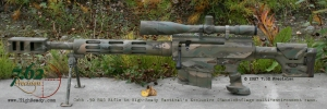 Cobb .50 BMG rifle in Chameleonflage Tigerstripe