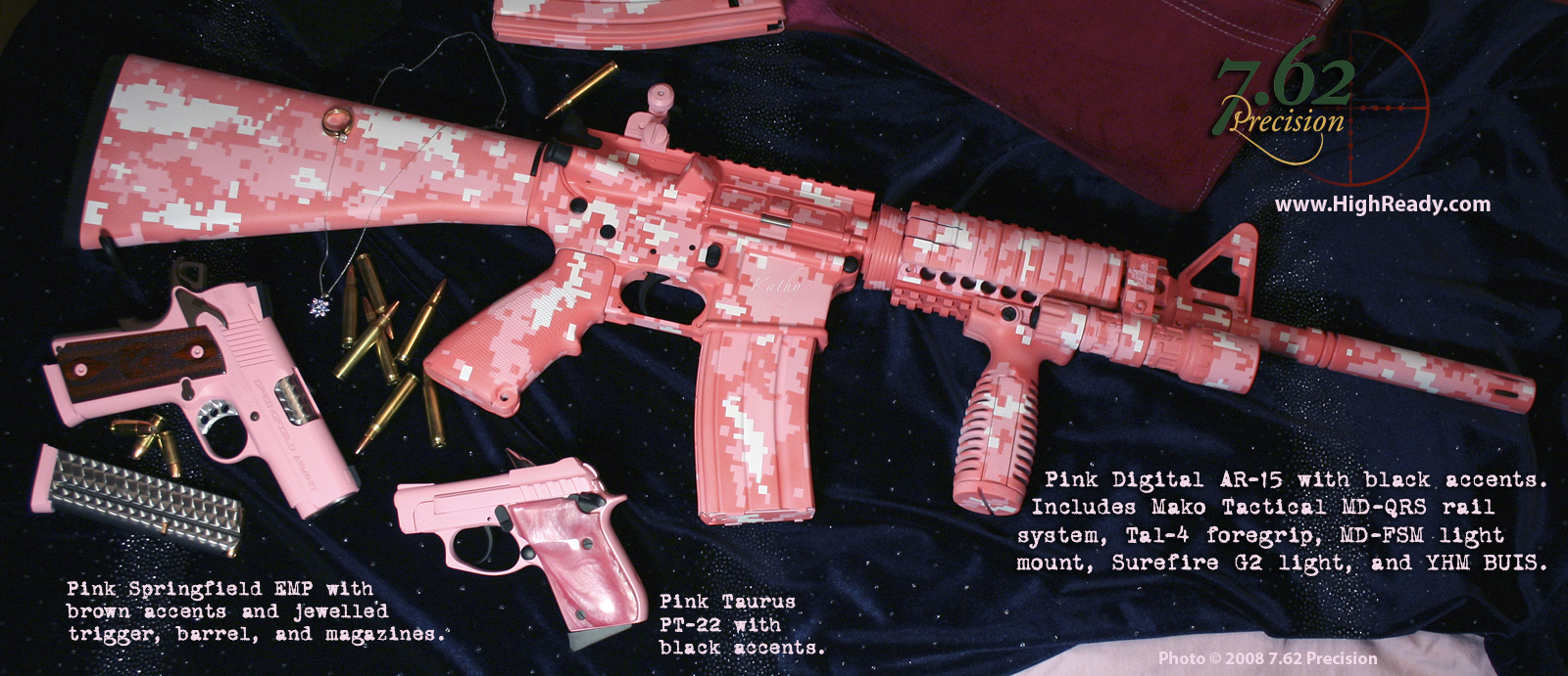 Pink Camo AR-15 Guns