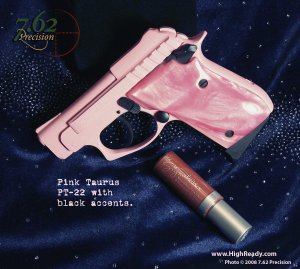 Taurus PT-22 in Pink DuraCoat with Black Accents