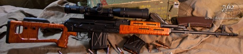 PSL Sniper Rifle (Dragunov-style) with HK Black DuraCoat finish and SVDM Scope Mount