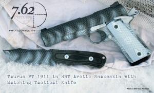 Taurus PT1911 in Arctic Operator Snakeskin