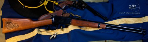 Rossi 92 Rifle engraved for the family of a soldier killed in Afghanistan
