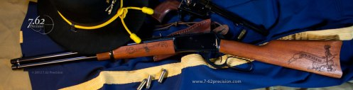 Memorial rifle for a soldier killed in action in Afghanistan