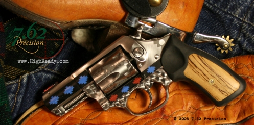 Ruger SP101 revolver with DuraCoat and jeweling.