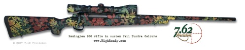 Fall Tundra leaf pattern to match fall colours on Remington 700