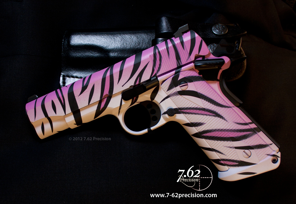 Pink Camo 9 Mm Pistol http://762precision.wordpress.com/no-ugly-guns-women-shoot-too/