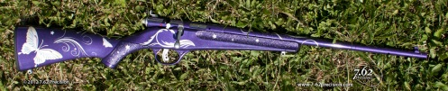 Purple Savage Rascal Rifle with Butterflies and Silver