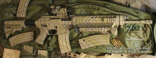SIG 556 carbine in Mogadishu Gecko DuraCoat