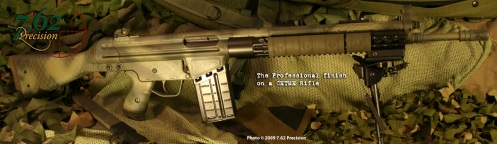 CETME rifle with G3 parts in The Professional pattern