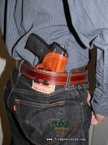 HIWB Holster and SIG P239 worn outside of a dress shirt.