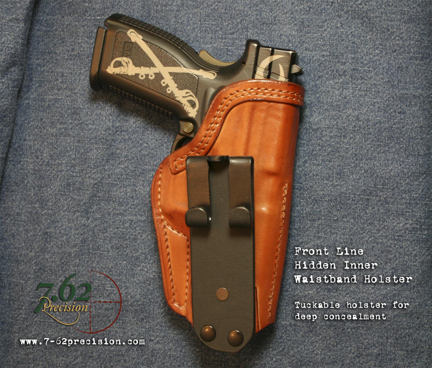 Hidden Tuckable IWB holster from Front-Line | 7.62 Precision ...