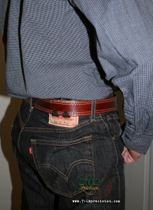 SIG P239 in the HIWB holster tucked under a dress shirt.