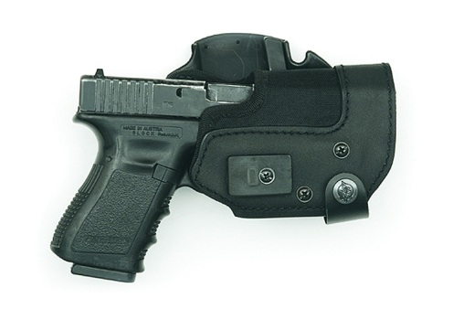 KNG (Kydex® New Generation) holster with Push 'n' Draw retention system and Front Line's unique belt-mount system.