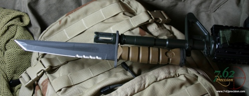 Ontario Tanto Bayonet on M4