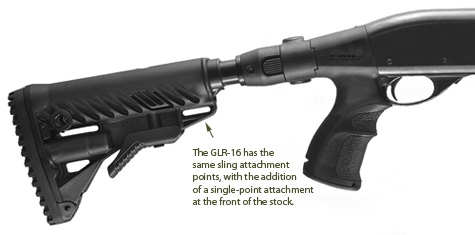 Sling Attachments on Mako GLR-16 collapsible stock