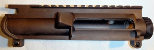 Rainier Arms slick-sided upper with no forward assist. Upper with bolt and carrier group weighed 3 lbs 5.8 oz.