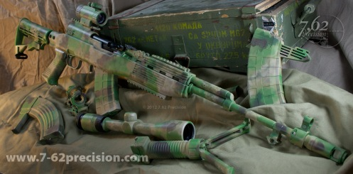 SKS and Accessories coated in Rommel's Feld Gendarme. Click here for more photos.