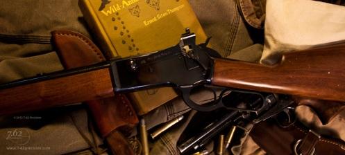 Type 21 sight on Winchester 1886 raised position.