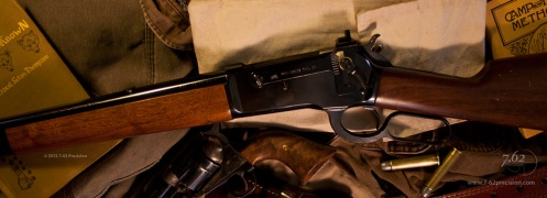 Winchester 1886 with Providence Tool Type 21 rear sight installed.