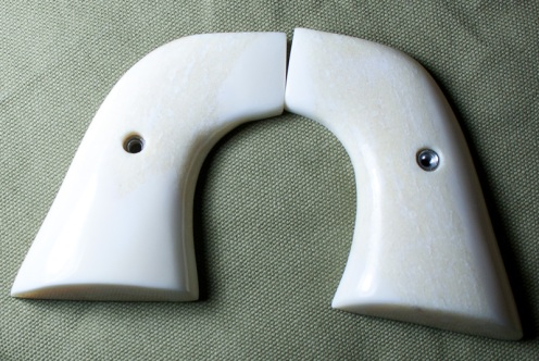 Inexpensive real ivory grips for single-action revolvers