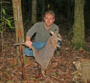 Hunting wallabies in New Zealand with a suppressed .223 rifle. Suppressors are considered important safety devices even in countries that heavily restrict firearms ownership.