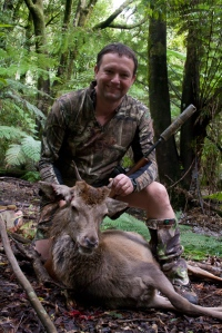 Young Red Stag harvested with a suppressed rifle. Suppressors in New Zealand cost as little as $200 each, save thousands in healthcare costs for hearing loss, and do not contribute to any increase in crime.