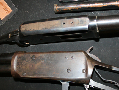 Borrowing filler screws from a Winchester 94.