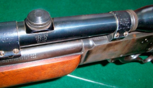 Weaver K2.2-C3 scope mounted on a 1952 Marlin 336