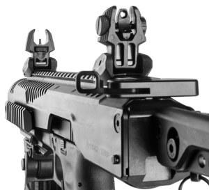 AR-style Charging Handle on the Gen 2 KPOS