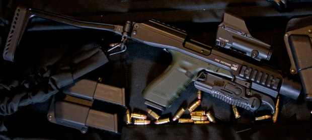 Gen 1 KPOS with Glock 31. This system is small enough to fit into a pistol case.