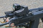 Optics mounted on the handguards of vz.58 rifles. There are certain advantages to forward-mounting optics.
