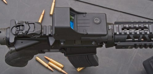 Mepro TRU-DOT RDS mounted on a Colt LE Carbine.