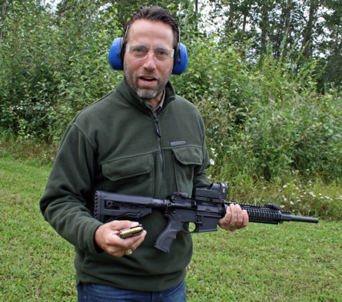 Joe Miller, with my .50 Beowulf rifle, talks about the usefulness of the cartridge for Alaskan game. Joe owns a .50 Beowulf rifle himself.