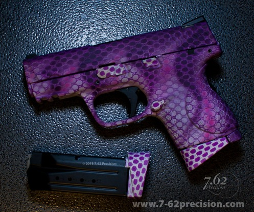 Purple Snakeskin on S&W Pistol.