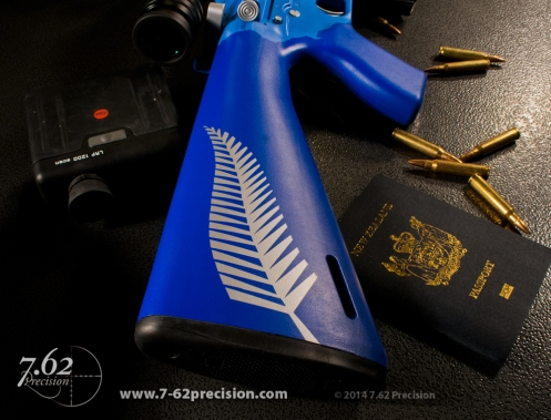 Blue New Zealand AR-15