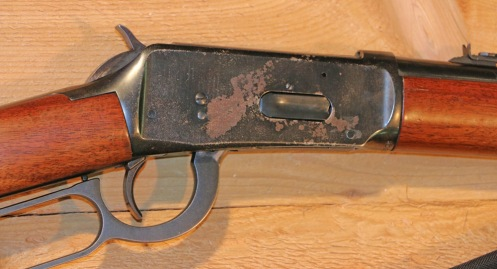 Before: This Winchester Model 94 can't be reblued due to the sintered metal receiver.